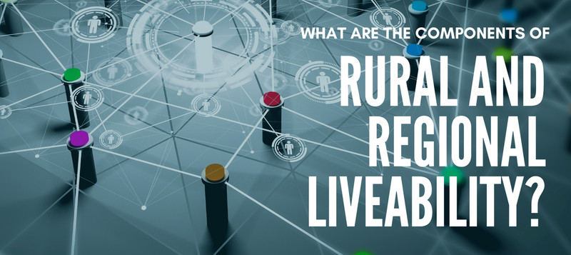 What are the components of Rrural & Regional Liveability?
